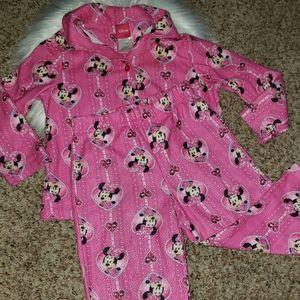 ❗2/$18   DISNEY Girl's 3T Pink Minnie Mouse PJ Set